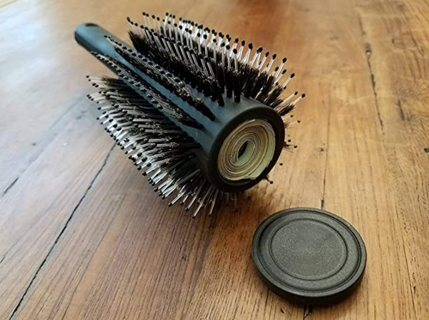 Hair Brush and Money Stash