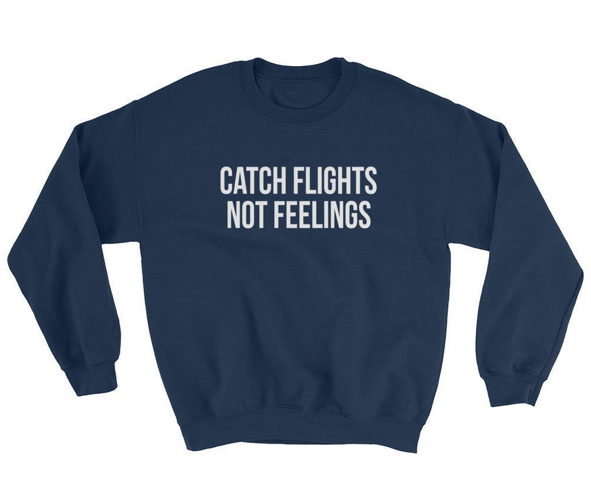 travel sweatshirt for friend moving overseas