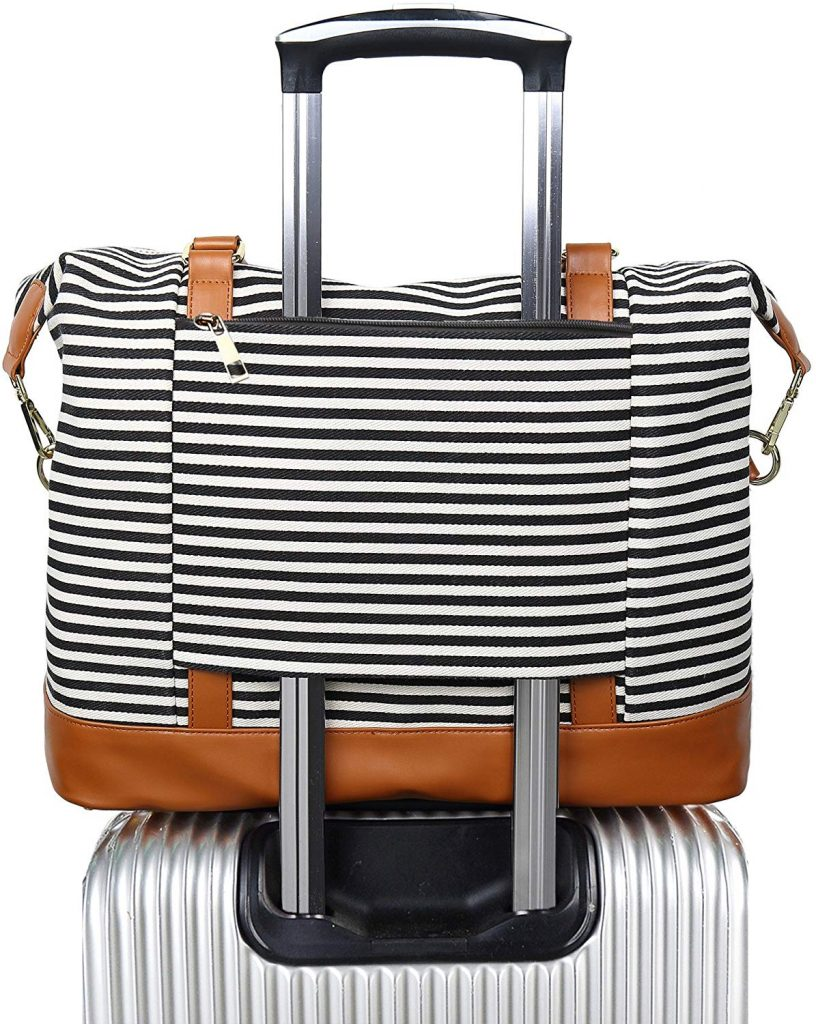 canvas weekender bag for study abroad