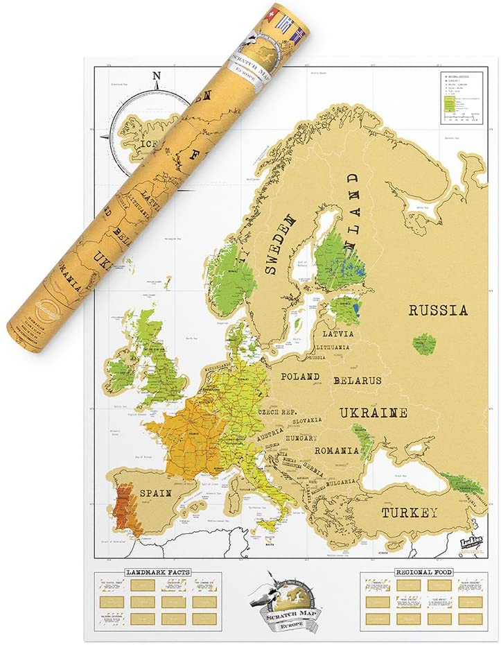 europe scratch off map for study abroad