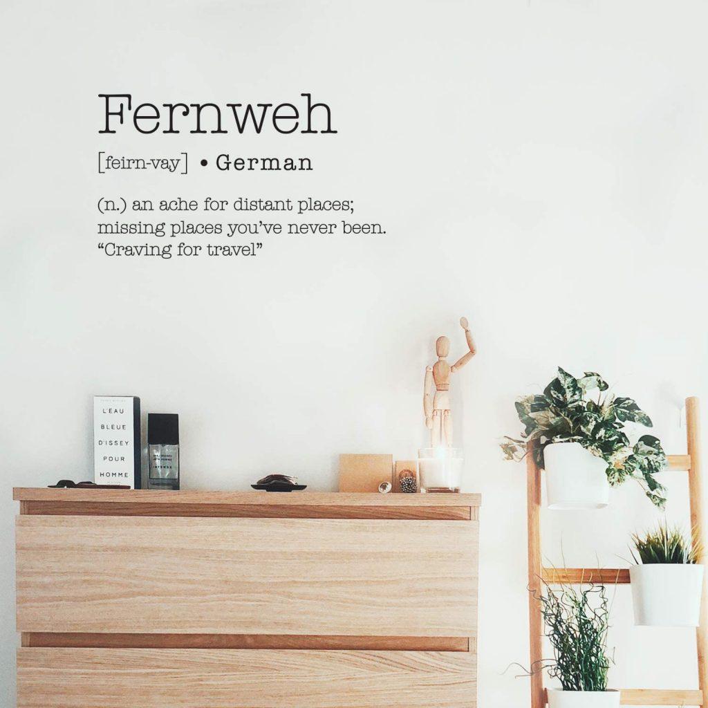 fernweh definition wall art