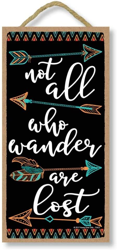 not all who wander wall art