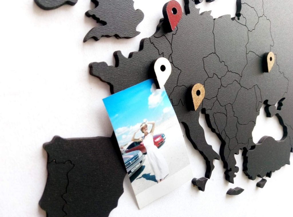 world map study abroad wall art