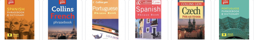 collins gem language phrasebooks for study abroad