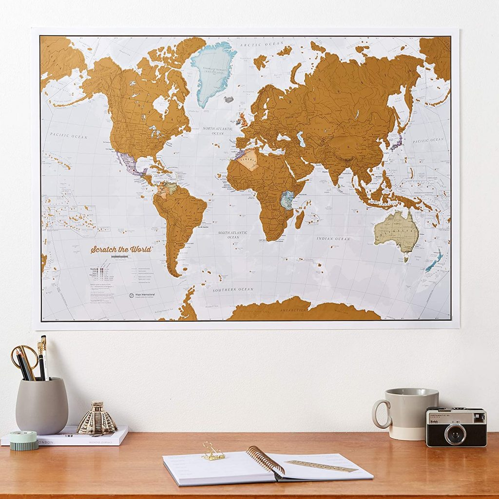 scratch world travel map for study abroad