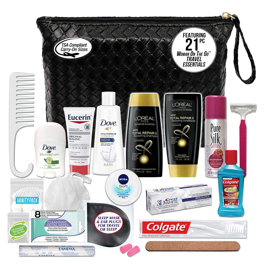 toiletry kit for study abroad