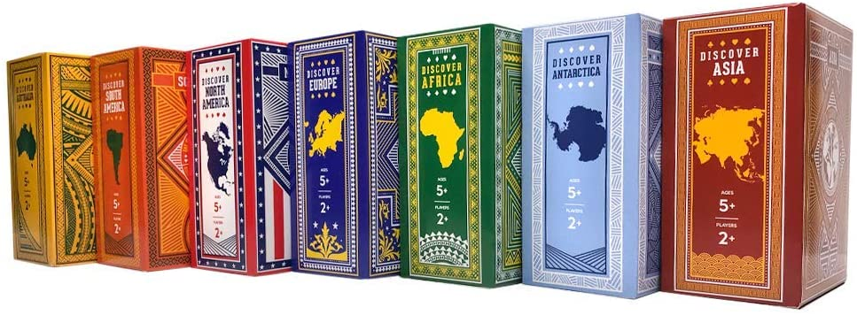 continent playing cards for travelers