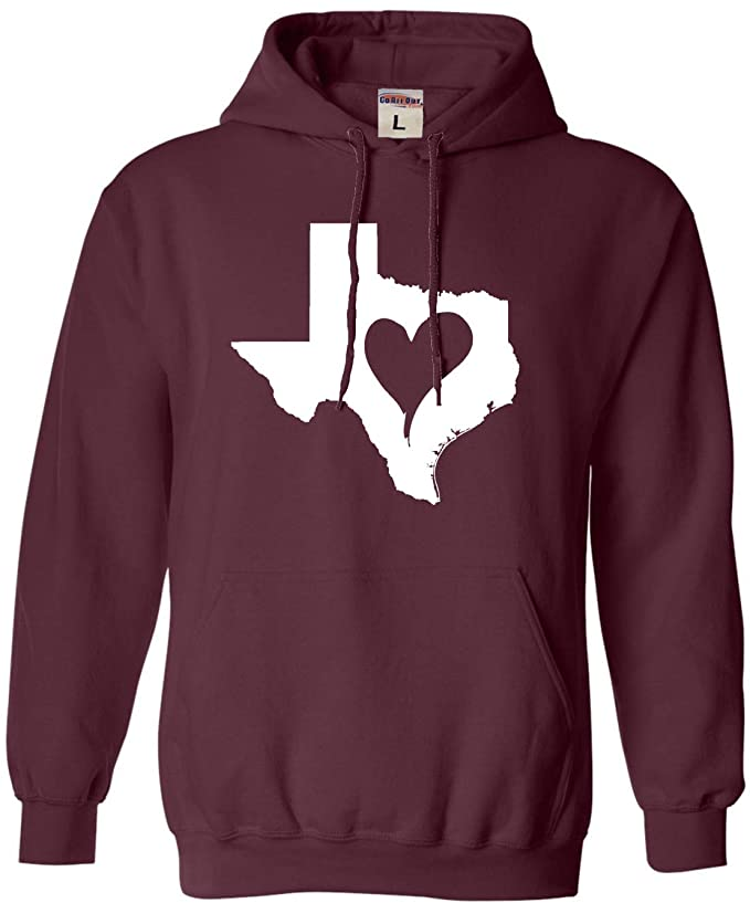 Adult I Love Texas I Heart Texas Sweatshirt Hoodie