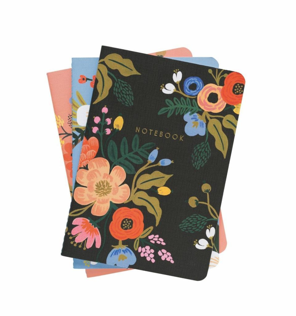 Rifle Paper Co. Lively Floral Stitched Notebooks, Set of 3 Lined